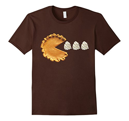 Mens Pumpkin Pie Thanksgiving Shirt Small Brown