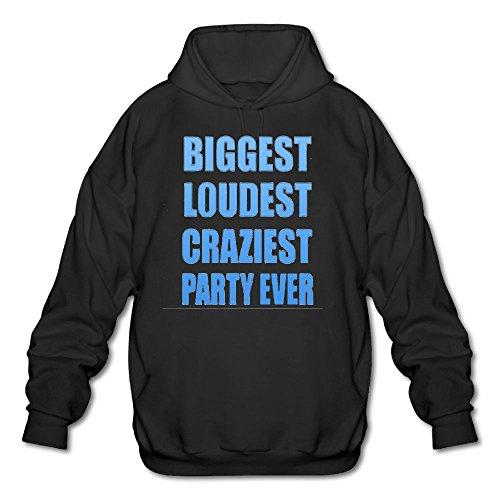 iest Party Ever Spring Autumn Long Sleeve for Men Custom Hoodie Sweatshirt SizeKey1Black ()