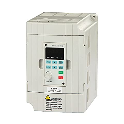 LAPOND VFD Drive VFD Inverter Professional Variable Frequency Drive 2.2KW 3HP 220V 10A for Spindle Motor Speed Control ()