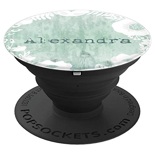 Alexandra Name Gift Grunge Personalized PopSockets Grip and Stand for Phones and Tablets