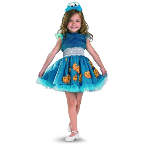 Frilly Cookie Monster Costume - Medium (3T-4T) ()