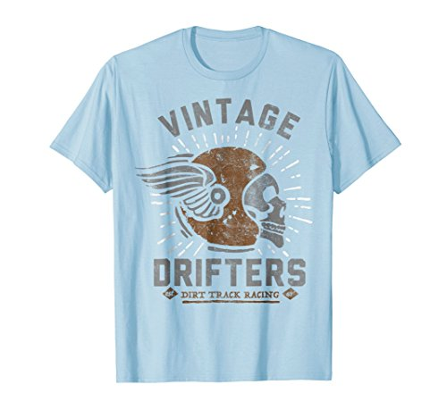 Vintage Drifters Dirt Track Racing Helmet Graphic T-Shirt
