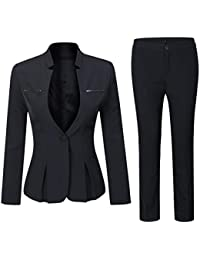 Women's Elegant Business Two Piece Office Lady Suit Set...