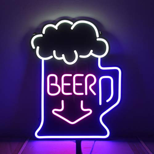 25.5 x 19.6 inches Giant Neon Signs, Large Neon Light Sign, Oversized Led Neon Lamp, Wall Sign Art Decorative Signs Lights, Neon Words for Home Room Decor Bar Beer for Party Holiday Sign – (Cool Beer)