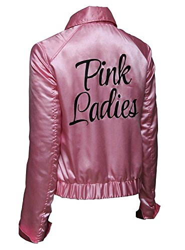 Womens Grease Pink Ladies Jacket Costume (M, Pink) (Bear Arms Costume)
