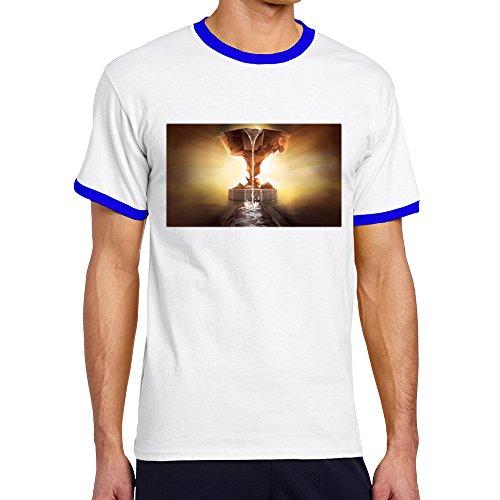 LXQL1 MASSIVE CHALICE RoyalBlue Contrast Color T-shirt For Men - - List Serial Color