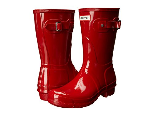 Womens Hunter Original Short Gloss Winter Festival Rain Wellington Boots - Military Red - 10