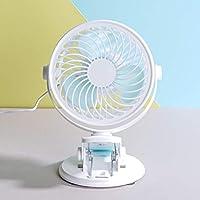 HAMSWAN Mini Ventilador de Mesa con Clip Abrazadera