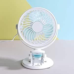 HAMSWAN Mini Ventilador de Mesa con Clip Abrazadera Rotación 360 ...
