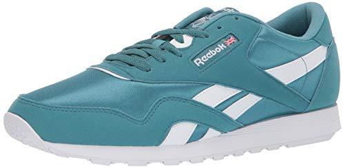 Reebok Classic Nylon Sneaker, Mineral Mist/White, 11 M US