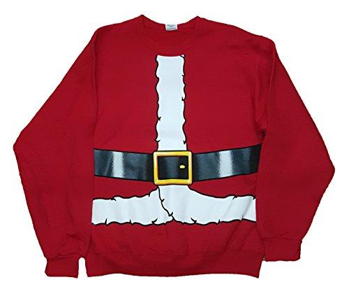 Christmas Santa Claus Costume Red Sweatshirt - Large
