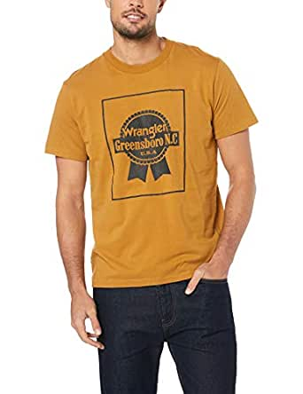 Wrangler Men's Off The Track TEE Old Gold, Gold, R0S