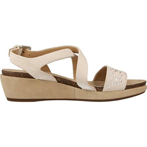 Sandalias y chanclas para mujer, color Beige , marca GEOX, modelo Sandalias Y Chanclas Para Mujer GEOX D ABBIE Beige Beige