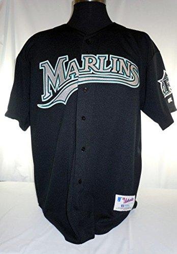 buy popular 0f61b 7dda6 Miami Florida Marlins Vintage Russell Black Jersey with 10th ...