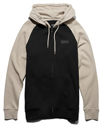 Etnies Men Core Icon Zip Natural Hoodies Size Small