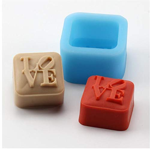 - 3D Love Characters Soap Silicone Mold Chocolate Candy Baking Molds Handmake Gypsum Epoxy Mould,Soap Making Molds Plaster Resin Clay Molds DIY Bakeware Cake Decorating Tools Square Baking Pan