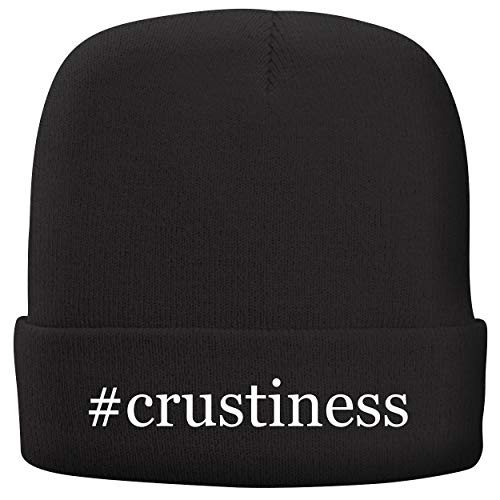 BH Cool Designs #Crustiness - Adult Hashtag Comfortable Fleece Lined Beanie, Black -