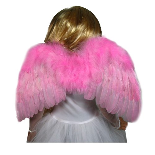 SACAS Small Pink Feather Angel Wings for Girls, Toddlers, Kids, Small childs