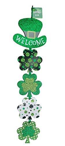 Glittering Shamrock Decorative Welcome Sign