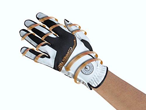 (Copper Tech Gloves Male Copper Tech Golf Glove, White/Black, One Size Fits Most )