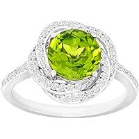 2 3/8 ct Peridot & White Sapphire Ring