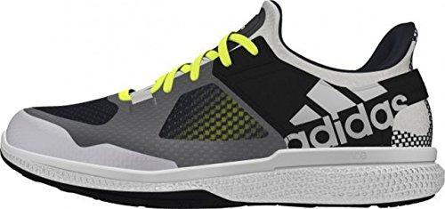adidas Atani Bounce - Zapatillas de Cross Training Para Mujer, Color Blanco/Lima/Negro/Gris