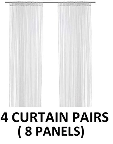 IKEA LILL mesh lace curtains, 8 panels (4 pairs), 110