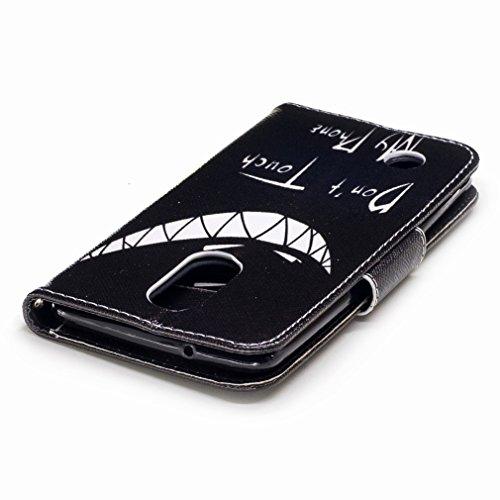 Yiizy LG K8 (2017) / X300 / M200N Custodia Cover, Denti Sorridono Design Sottile Flip Portafoglio PU Pelle Cuoio Copertura Shell Case Slot Schede Cavalletto Stile Libro Bumper Protettivo Borsa