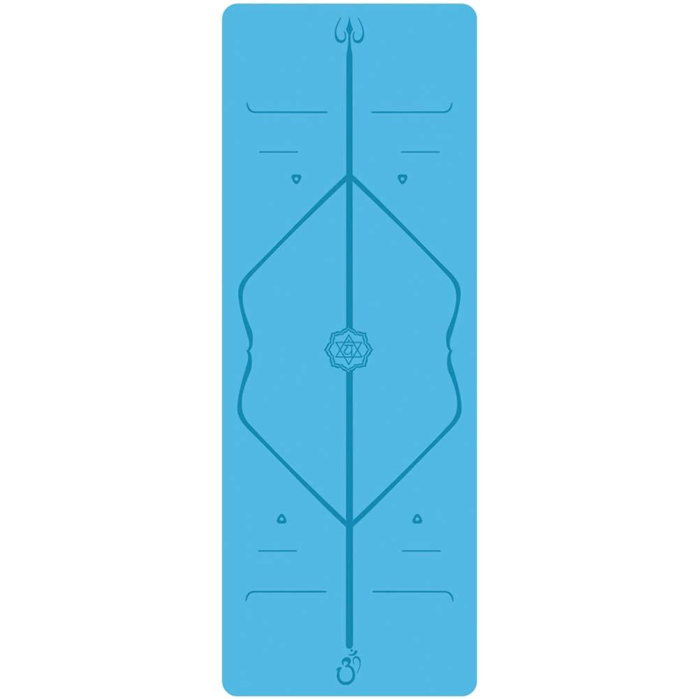 Nlj-YMS Yoga Mat Non-Slip Fitness Gymnastics Mat Natural Rubber Dance Mat 185cmX68cmX0.5cm