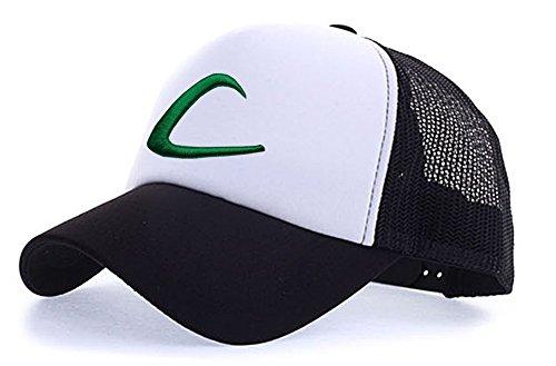 myglory77mall Sombrero de Animado para Hombre Negro / t1 blanca