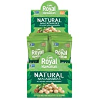 Royal Hawaiian Roasted Unsalted Macadamia Nuts--Snack Pack (Natural)