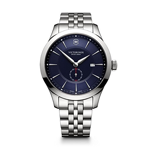 - Victorinox Men's Alliance Swiss-Quartz Watch with Stainless-Steel Strap, Silver, 21 (Model: 241763)
