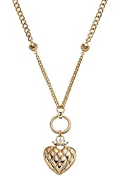 Juicy Couture Crown, Heart, Lock & Shield Necklace