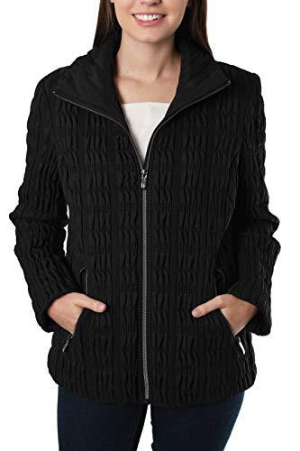 Anne Klein Quilted Short High Collar Coat (XL, ()