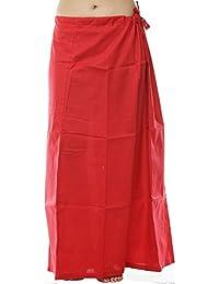 Odishabazaar Women Petticoat Peticoat Sari Saree Underskirt Premium Cotton Bollywood Saree Skirt (#24)