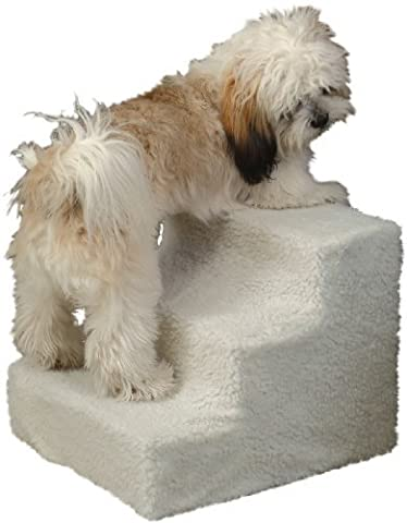 Miles Kimball 3 Step Pet Stairs (3 Step Padded Dog Stairs)