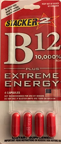 Stacker 2 B12 Extreme Energy Ephedra Free 4 Packs
