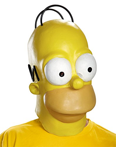 Men's Homer Simpson Funny Cosplay Party Vinyl Halloween Costume Mask -