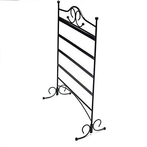 HUJI Black Jewelry Organizer Rack Earring Holder Necklace Bracelet Stand Display Storage (1, Steel Earrings Holder) by Huji (Image #4)