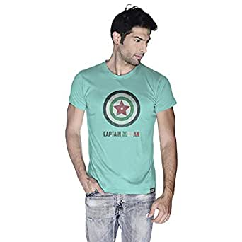 Creo Captain Jordan Superhero T-Shirt For Men - Xl, Green