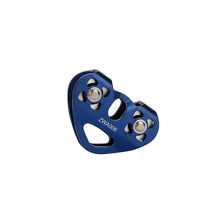 Memela(TM)30KN Outdoor Rock Climbing Rescue Dual Pulley Aluminum Alloy Climbing Gear Hammock Hanging Device