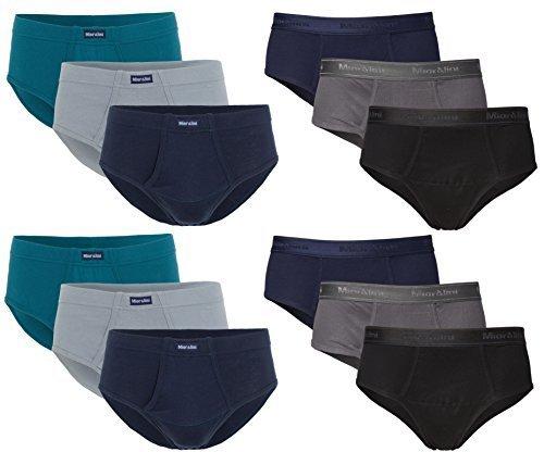 �?6 o 12 Sport Men - Slip in Combinazioni di colori senza Patta 100% Cotone 12 Salvare Pack Mutandine Uomo mutandine Ragazzi uomo - M L XL 2XL 3XL 4XL - 12 x Con Inserto, 2XL-8