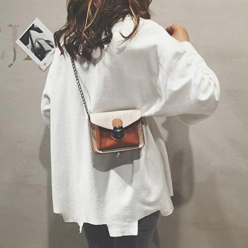 Paquete Cuadrada Lentejuela impresión de Transparente Carta Contraste Retro de Bolsa de Bolsa Color láser pequeña gelatina Mujer Tendencia Costura Bolso nBzFq1w