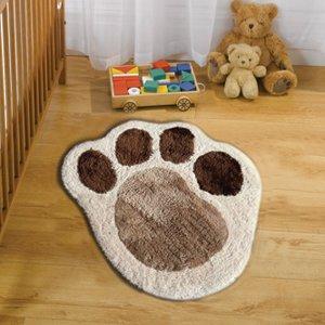Kids Nursery Ultra Soft Fluffy Luxurious Shaggy Puppy Paw Rug