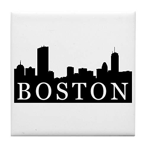 CafePress Boston Skyline Tile Coaster, Drink Coaster, Small -