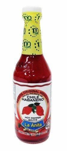 La Anita Red Habanero Hot Sauce 4 Oz by La - Anita Store