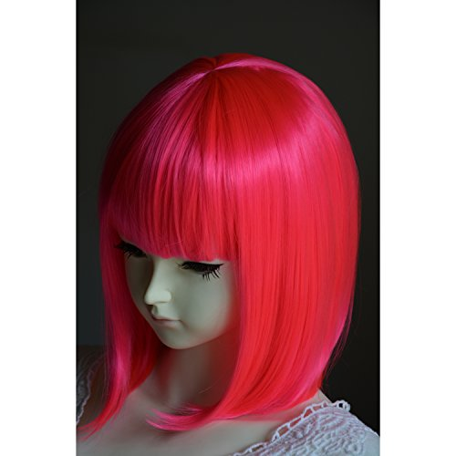 Hot Pink Pageboy Wig