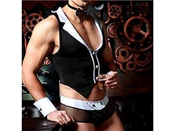 NqceKsrdfzn Ropa Interior erótica para Hombres Sexy Traje de Uniformes de Discoteca (tamaño : Talla