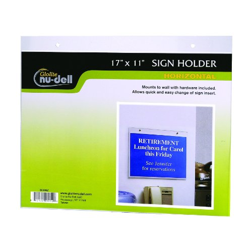 Horizontal Wall Mount Holder Clear