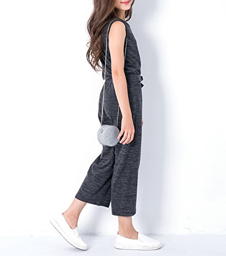 Zcaosma Teen Girls Clothing Two-Piece Girls Outfit Tops Pants Girls Clothing Set,Gray,6 by Zcaosma (Image #3)